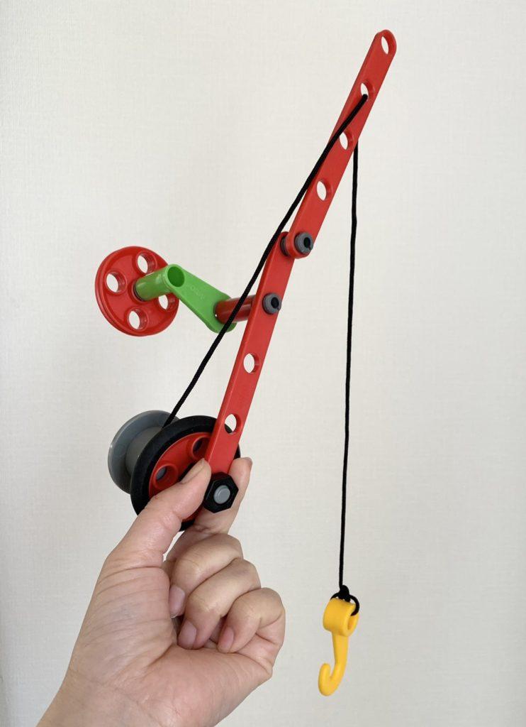 ブリオビルダー4歳釣り竿を作って遊ぶ(BRIO)