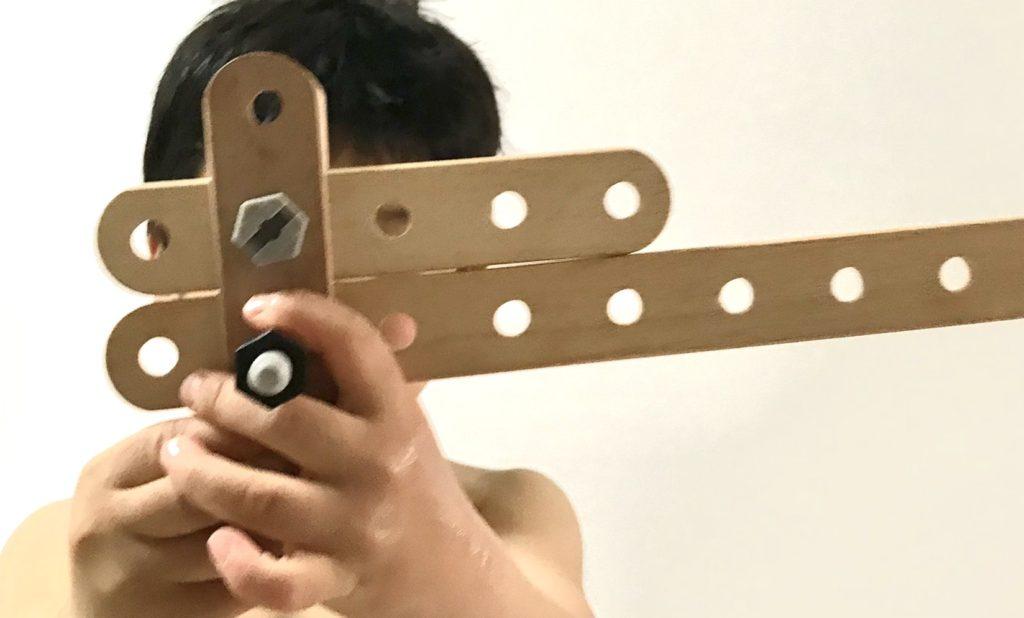 ブリオビルダー4歳遊び方武器を作る(BRIO)