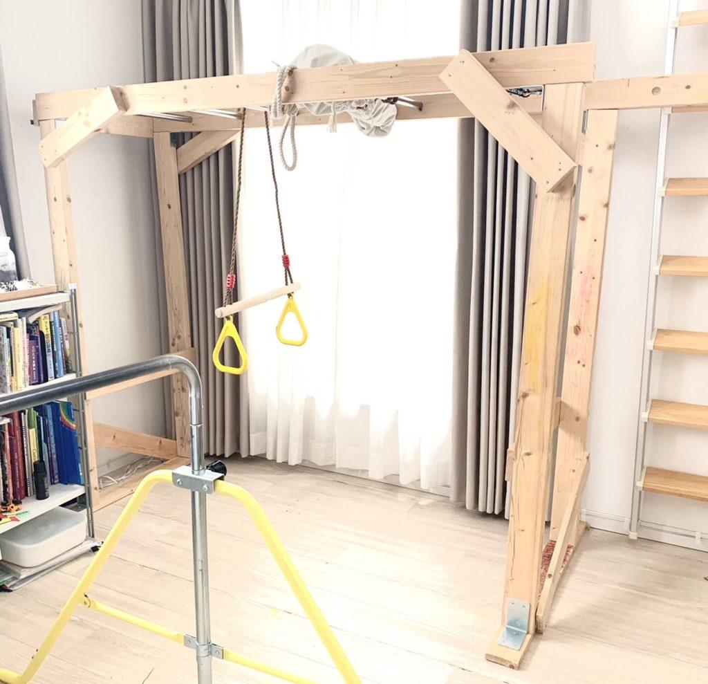 雲梯DIY、鉄棒、吊り輪