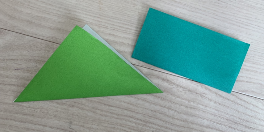 折り紙の知育効果、折り鶴を折るステップ